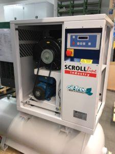 Спиральный компрессор на ресивере